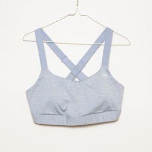 Under Armour Compression Grey Cross Sports Bra
